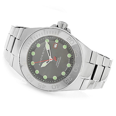 626-743 - Android Hercules Automatic Deep Dish Dial Tungsten Bracelet Watch