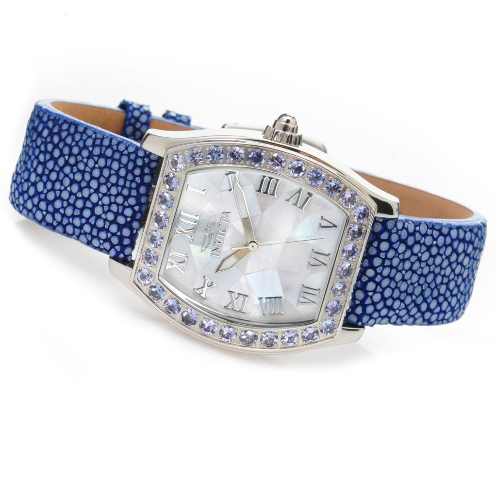 626-749 - Invicta Women's Angel Quartz 3.52ctw Tanzanite Stingray Strap Watch