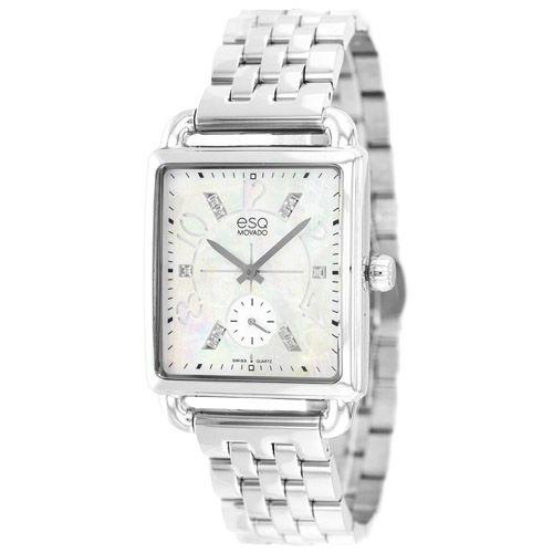 626-754 - ESQ Movado Women's Origin Swiss Quartz Mother-of-Pearl Diamond Accented Bracelet Watch