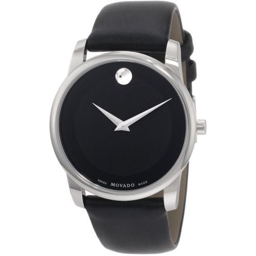 626-771 - Movado 40mm Museum Swiss Quartz Leather Strap Watch
