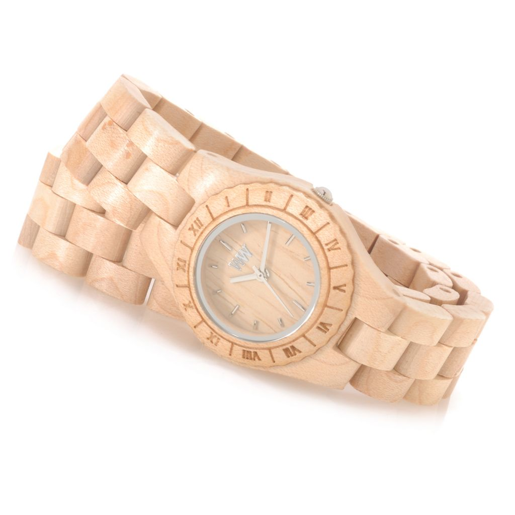 "626-781 - WeWOOD Women's ""Venus"" Quartz Wooden Wrap Bracelet Watch"
