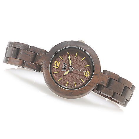 626-783 - WeWOOD Women's ''Mimosa'' Quartz Wooden Bracelet Watch