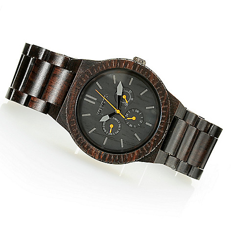 626-784 - WeWOOD 45mm ''Kappa'' Quartz Wooden Bracelet Watch