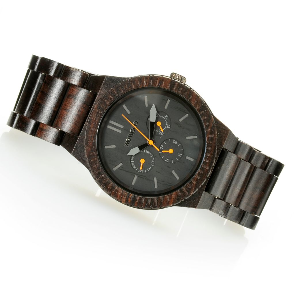 "626-784 - WeWOOD 45mm ""Kappa"" Quartz Wooden Bracelet Watch"