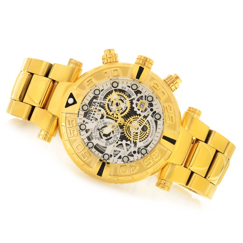 626-792 - Invicta Reserve 47mm Subaqua Noma I Swiss Made Quartz Chronograph Stainless Steel Bracelet Watch