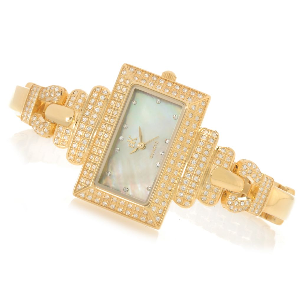 626-797 - Adee Kaye Women's Avenue of the Stars Quartz Crystal Accented Bracelet Watch