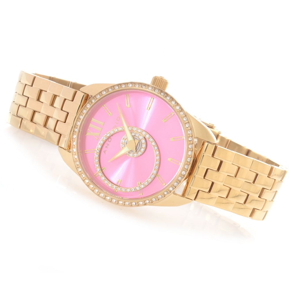 626-834 - Android Women's StarHalo Quartz Stainless Steel Bracelet Watch Made w/ Swarovski® Elements