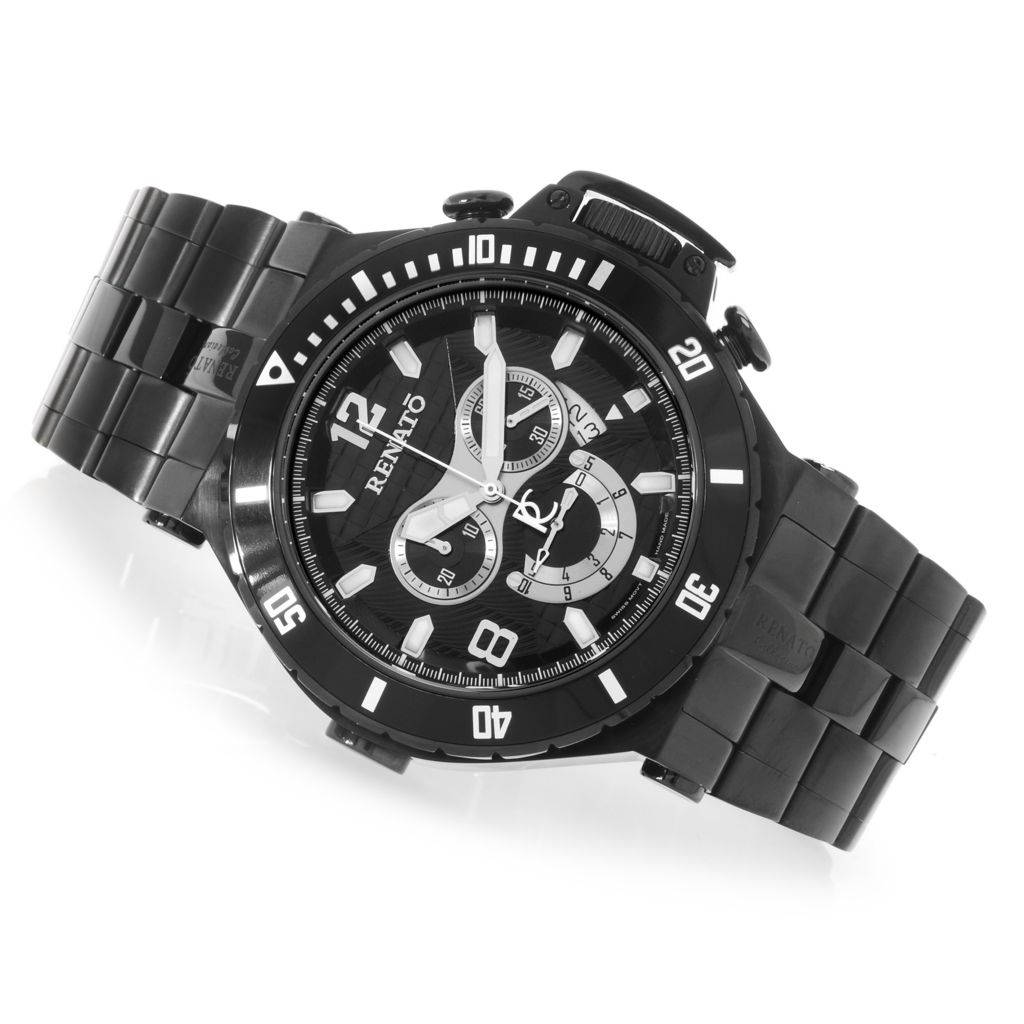 626-836 - Renato 50mm Wilde-Beast Diver Swiss Chronograph Stainless Steel Bracelet Watch