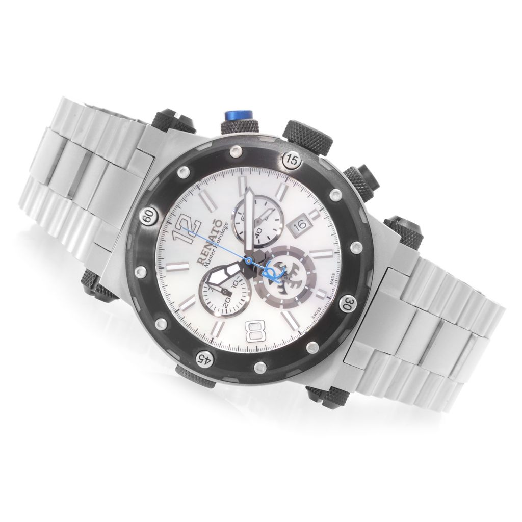 626-841 - Renato 45mm Destructor Swiss Made Quartz Chronograph Stainless Steel Bracelet Watch