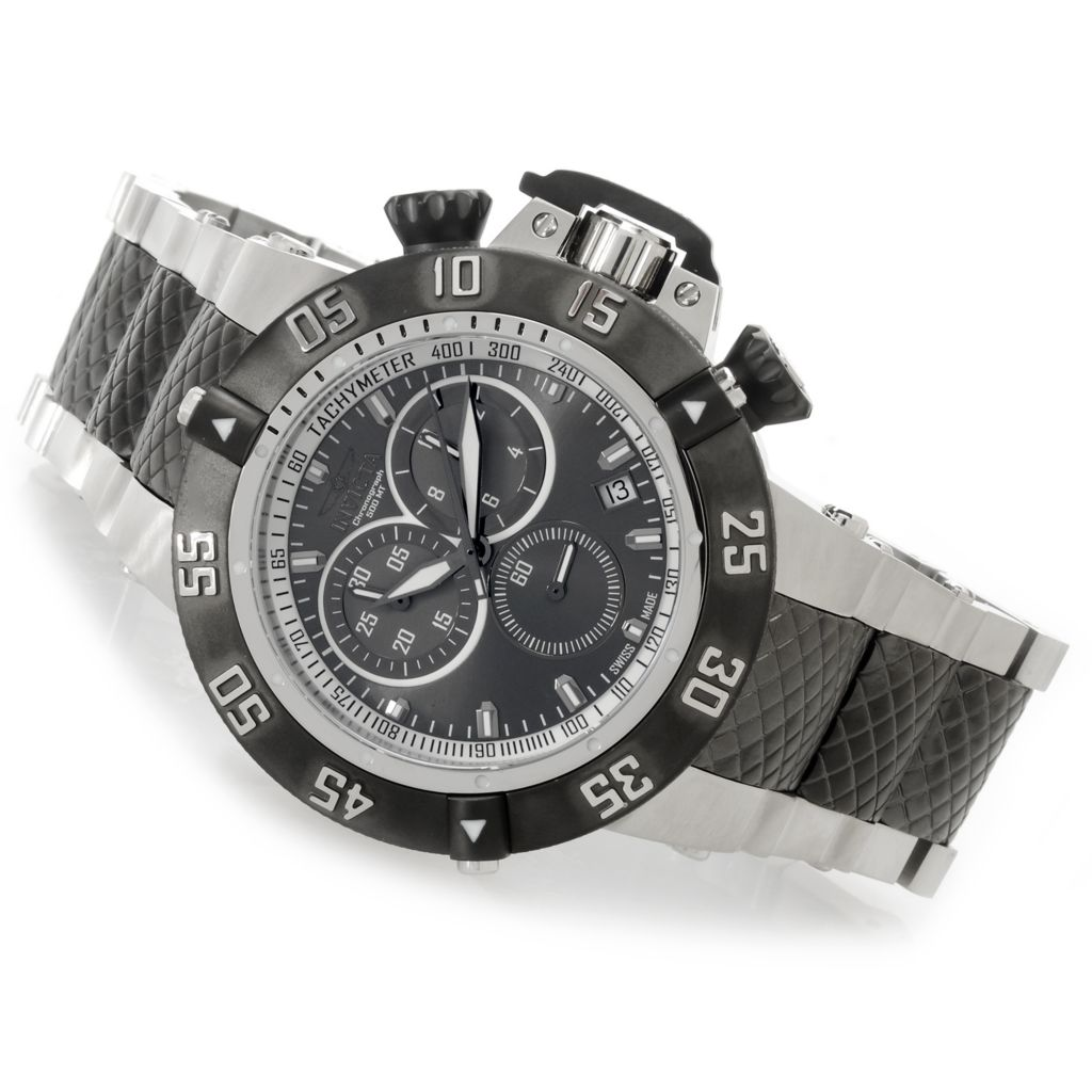 626-859 - Invicta 50mm Subaqua Noma III Swiss Chronograph Stainless Steel Bracelet Watch