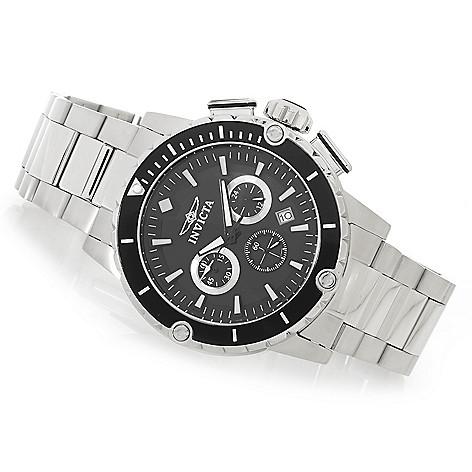 626-861 - Invicta 47mm Pro Diver Quartz Chronograph Bracelet Watch w/ Eight-Slot Dive Case