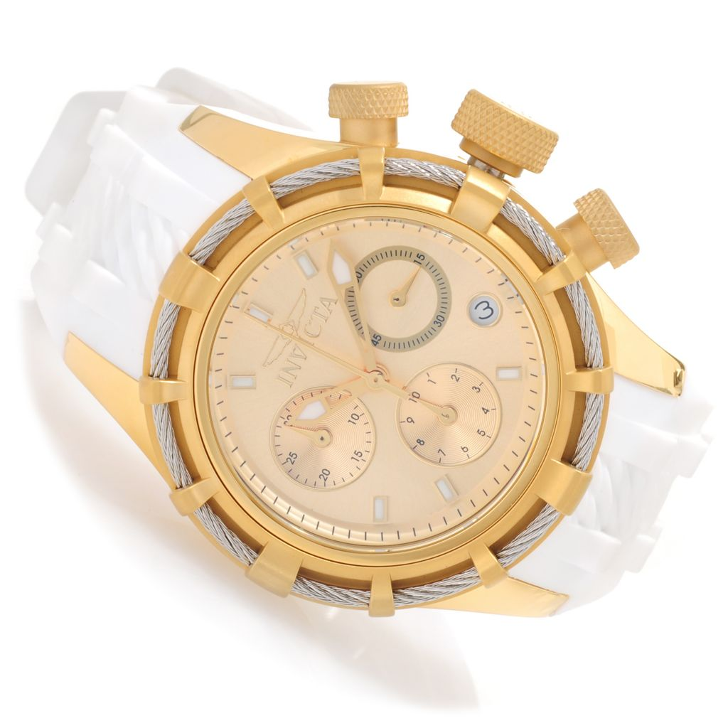 626-871 - Invicta Women's Bolt Quartz Chronograph Stainless Steel Silicone Strap Watch