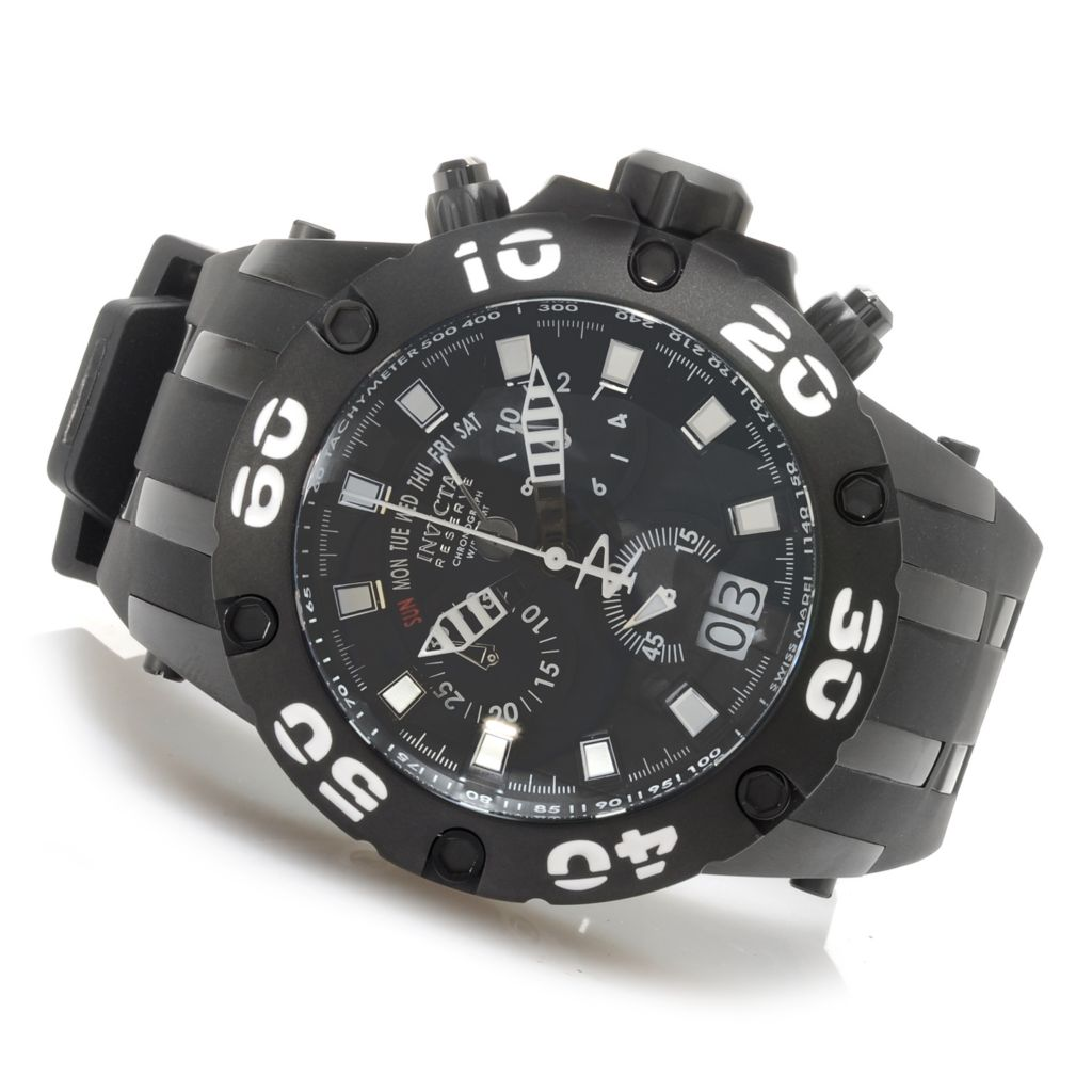 626-885 - Invicta Reserve 50mm Specialty Subaqua Scuba Swiss Made Chronograph Strap Watch w/ 1-Slot Dive Case