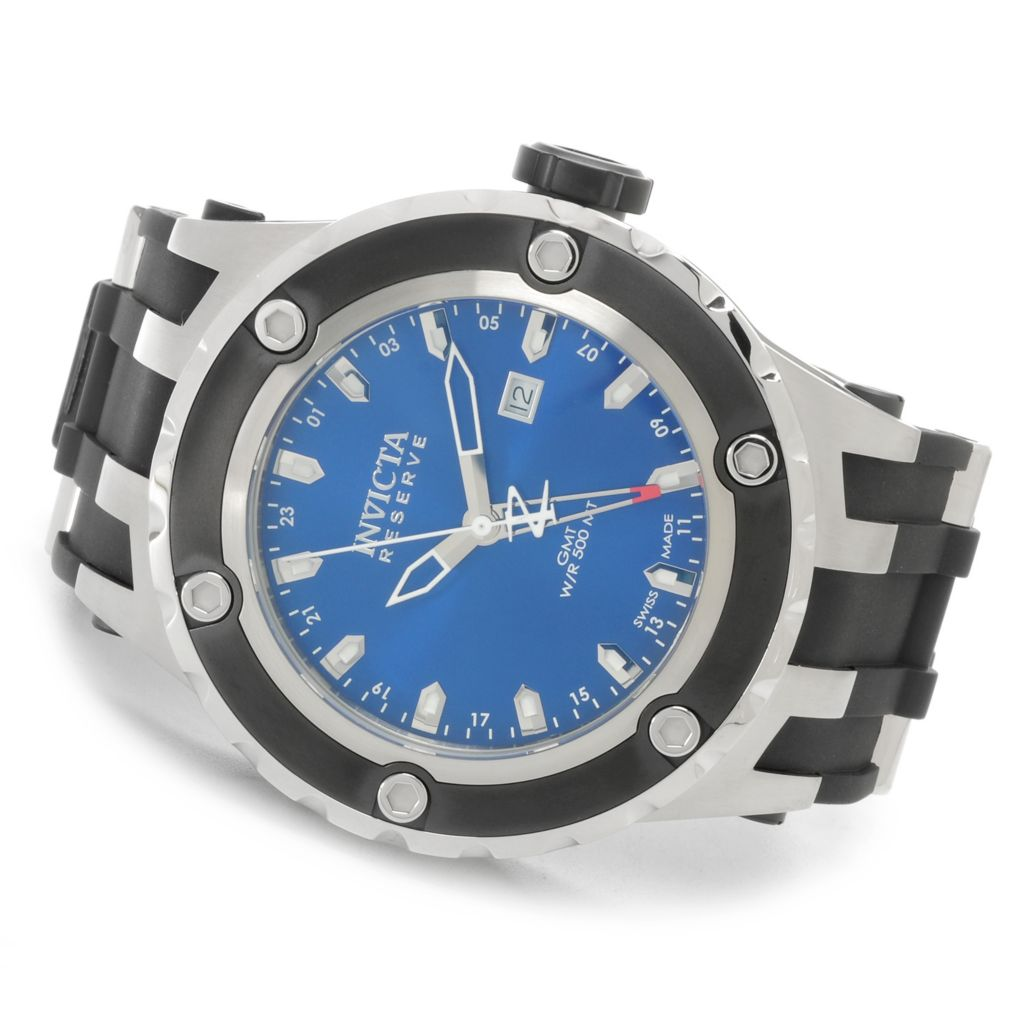626-891 - Invicta Reserve 52mm Specialty Subaqua Swiss Made Quartz GMT Polyurethane Strap Watch