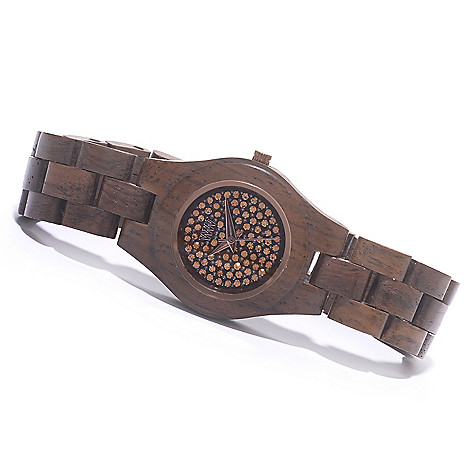 626-896 - WeWOOD Women's ''Moon Crystal'' Quartz Wooden Bracelet Watch