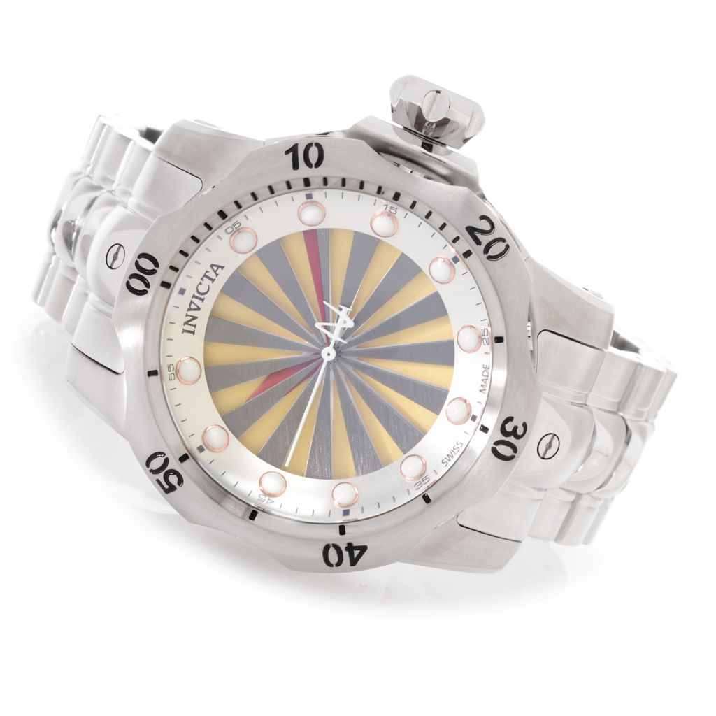 626-897 - Invicta Reserve 52mm Venom Turbine Swiss Made Stainless Steel Bracelet Watch w/ One-Slot Dive Case
