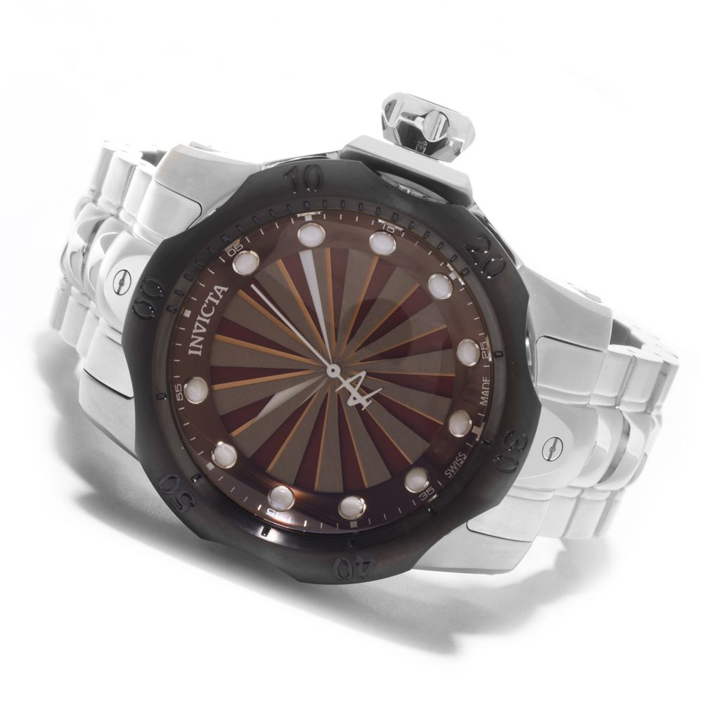 626-898 - Invicta Reserve 52mm Venom Turbine Swiss Made Stainless Steel Bracelet Watch