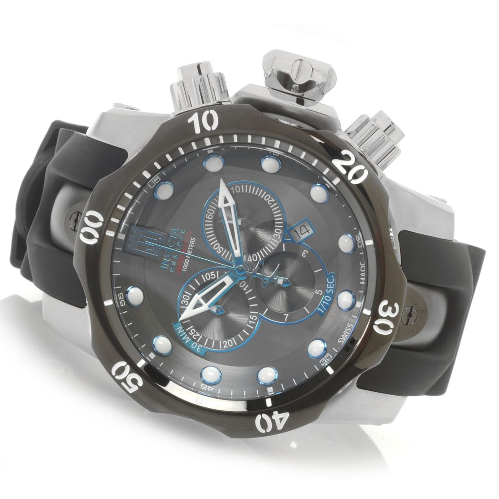 626-908 - Invicta Reserve 54mm Jason Taylor Venom Swiss Made Chronograph Strap Watch w/ Eight-Slot Dive Case