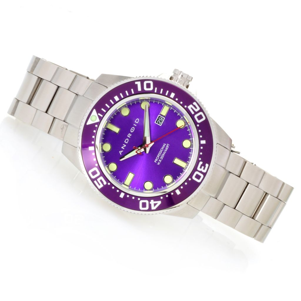 626-913 - Android 46mm Divemaster 200 Quartz Stainless Steel Bracelet Watch