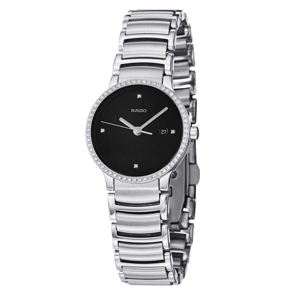 626-920 - Rado Women's Centrix Swiss Made Quartz Diamond Accent Bracelet Watch