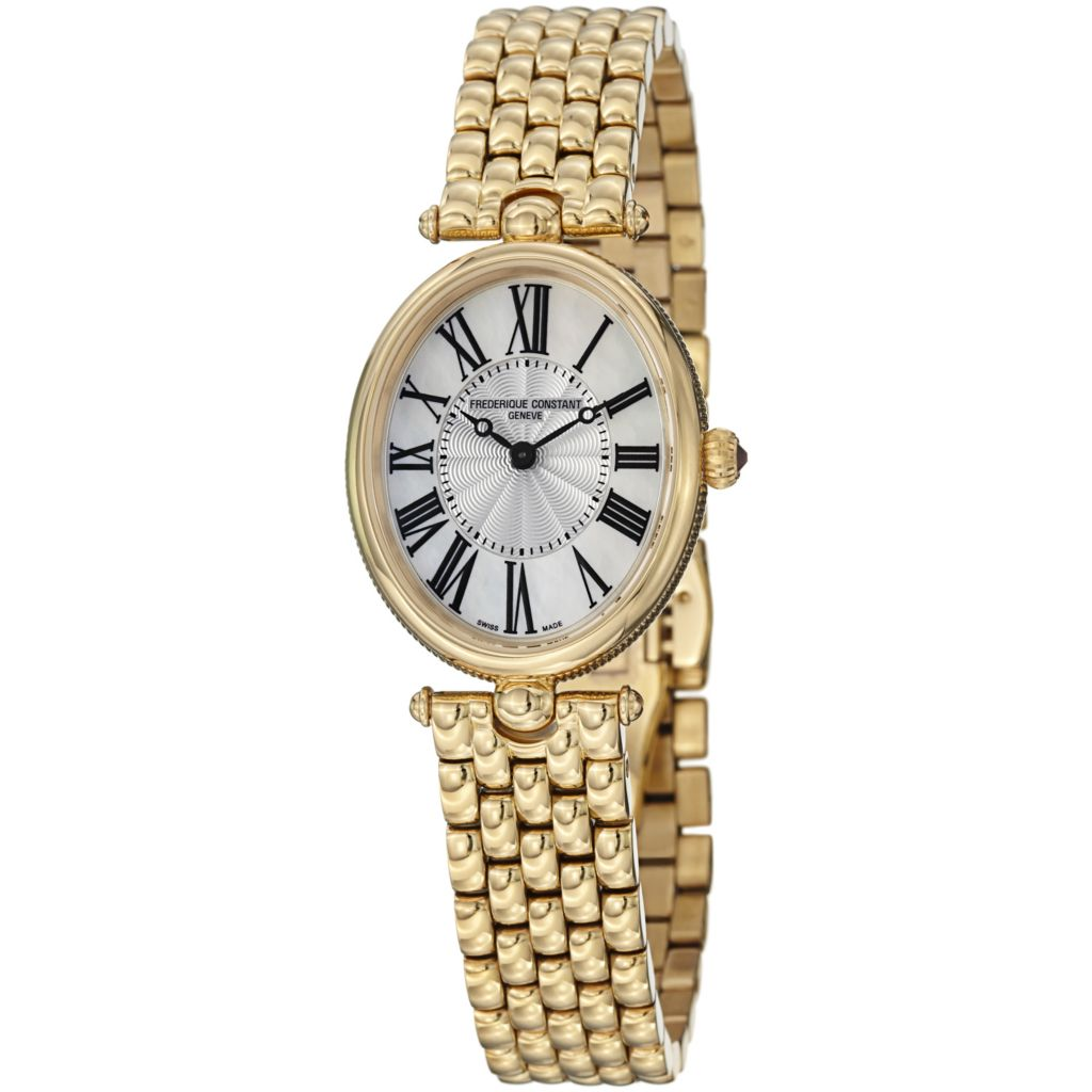 626-929 - Frederique Constant Women's Art Deco Swiss Quartz Stainless Steel Bracelet Watch