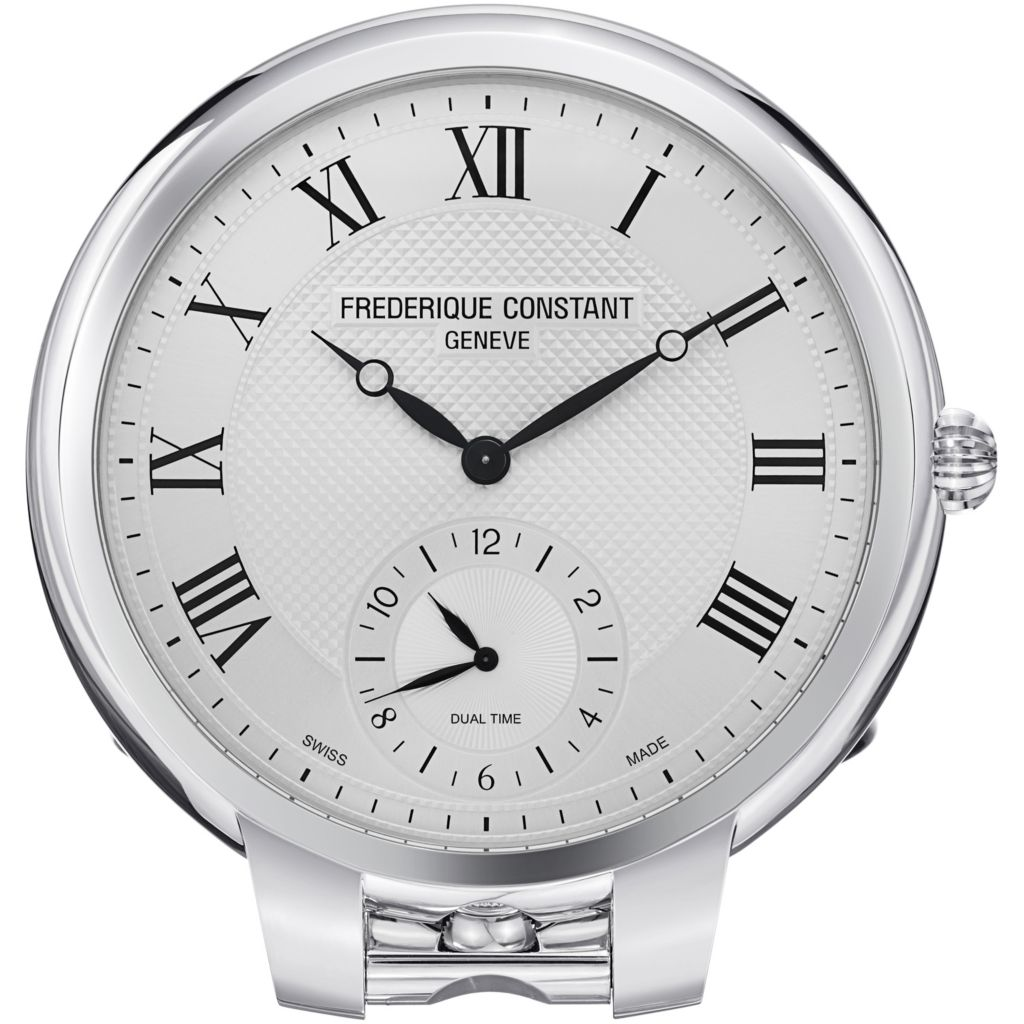 626-930 - Frederique Constant Stainless Steel Table Clock