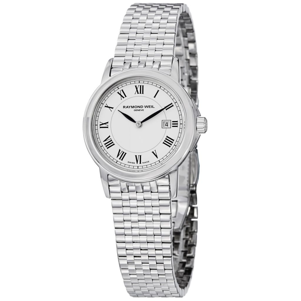 626-936 - Raymond Weil Women's Tradition Swiss Quartz Stainless Steel Bracelet Watch