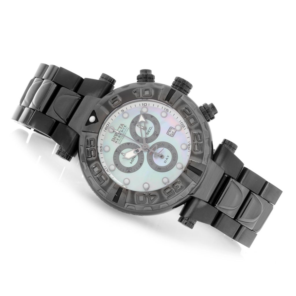 626-938 - Invicta Reserve 47mm Subaqua Noma I Swiss Made Chronograph Bracelet Watch w/ Eight-Slot Dive Case