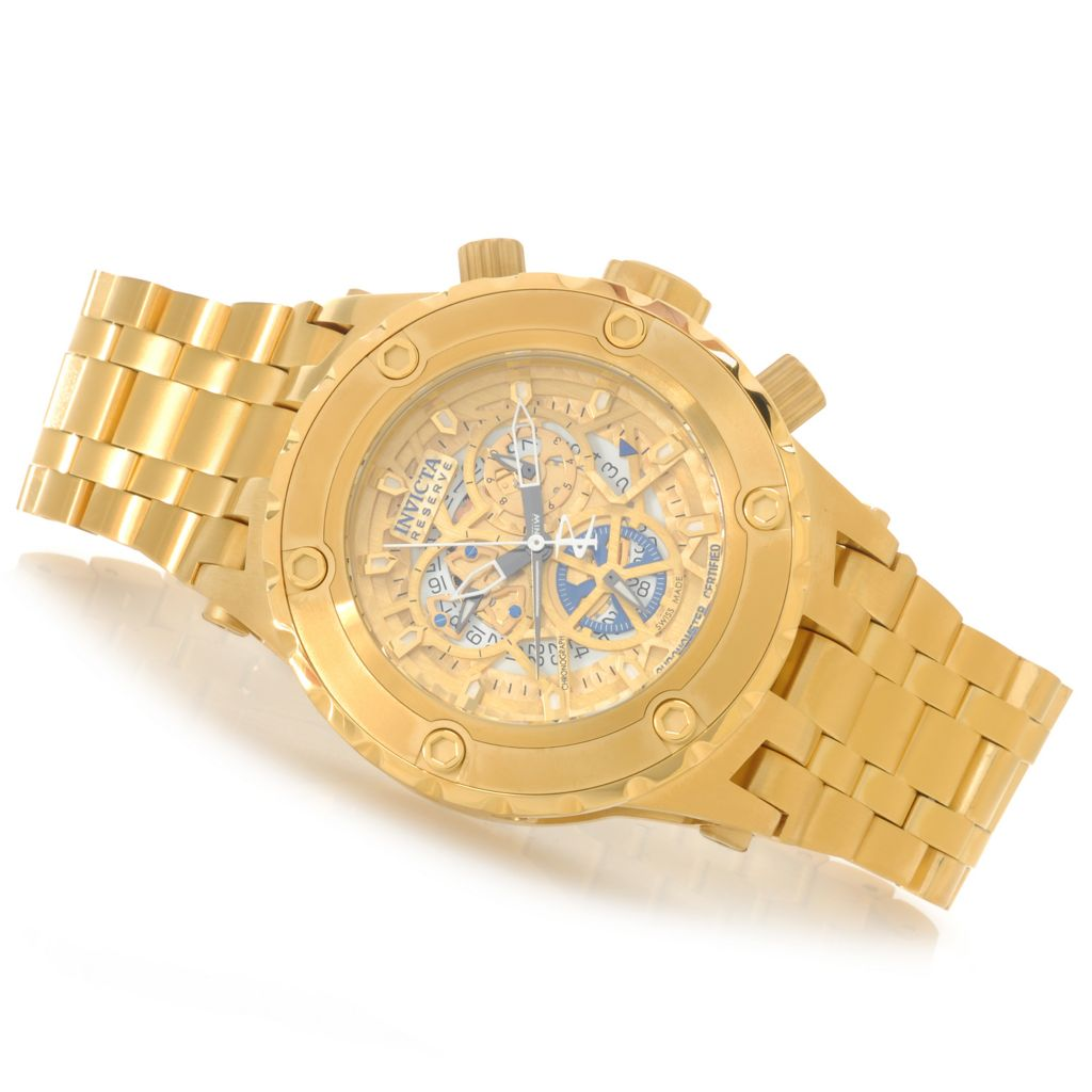 626-944 - Invicta Reserve 52mm Specialty Subaqua Swiss COSC Bracelet Watch w/ Eight-Slot Dive Case