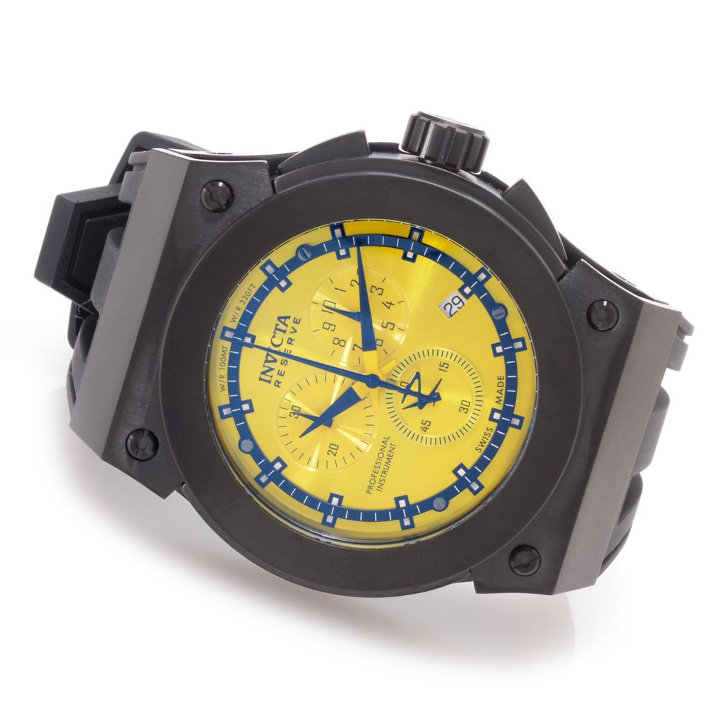 626-949 - Invicta Reserve 52mm Akula Swiss Made Quartz Chronograph Silicone Strap Watch