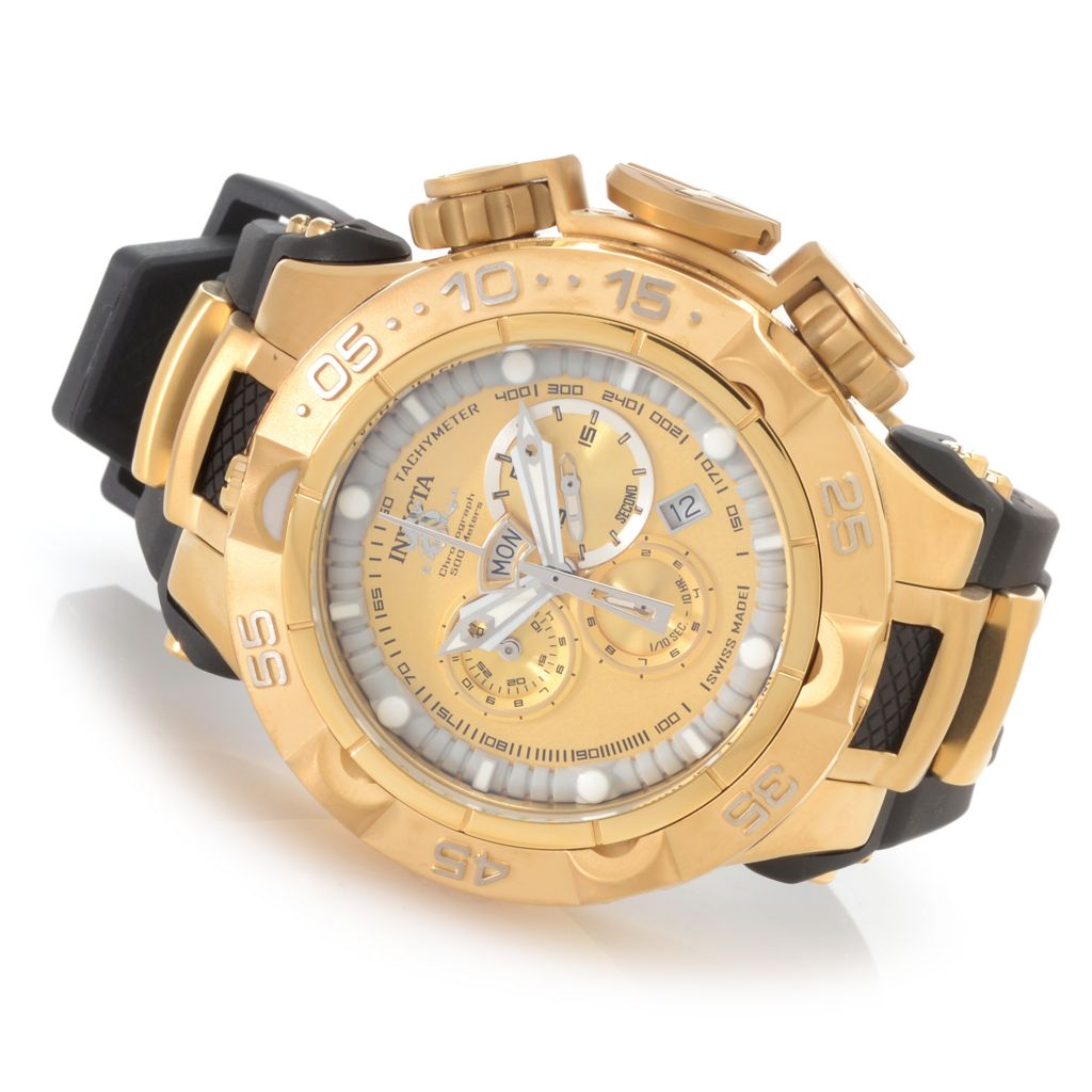 626-951 - Invicta 50mm Subaqua Noma V Swiss Made Quartz Chronograph Polyurethane Strap Watch
