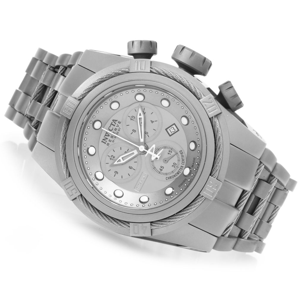 626-955 - Invicta Reserve 52mm Bolt Zeus Swiss Made COSC Titanium Bracelet Watch w/ One-Slot Dive Case