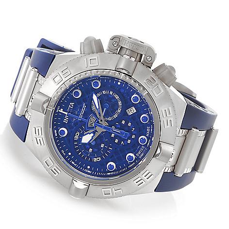 626-957 - Invicta 50mm Subaqua Noma IV Swiss Chronograph Rubber Strap Watch w/ Eight-Slot Dive Case