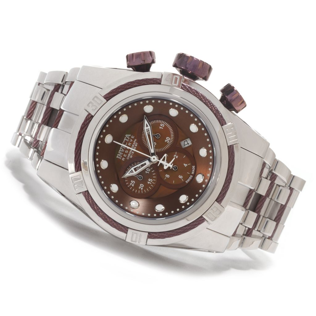 626-962 - Invicta Reserve 53mm Bolt Zeus Swiss Chronograph Bracelet Watch w/ One-Slot Dive Case
