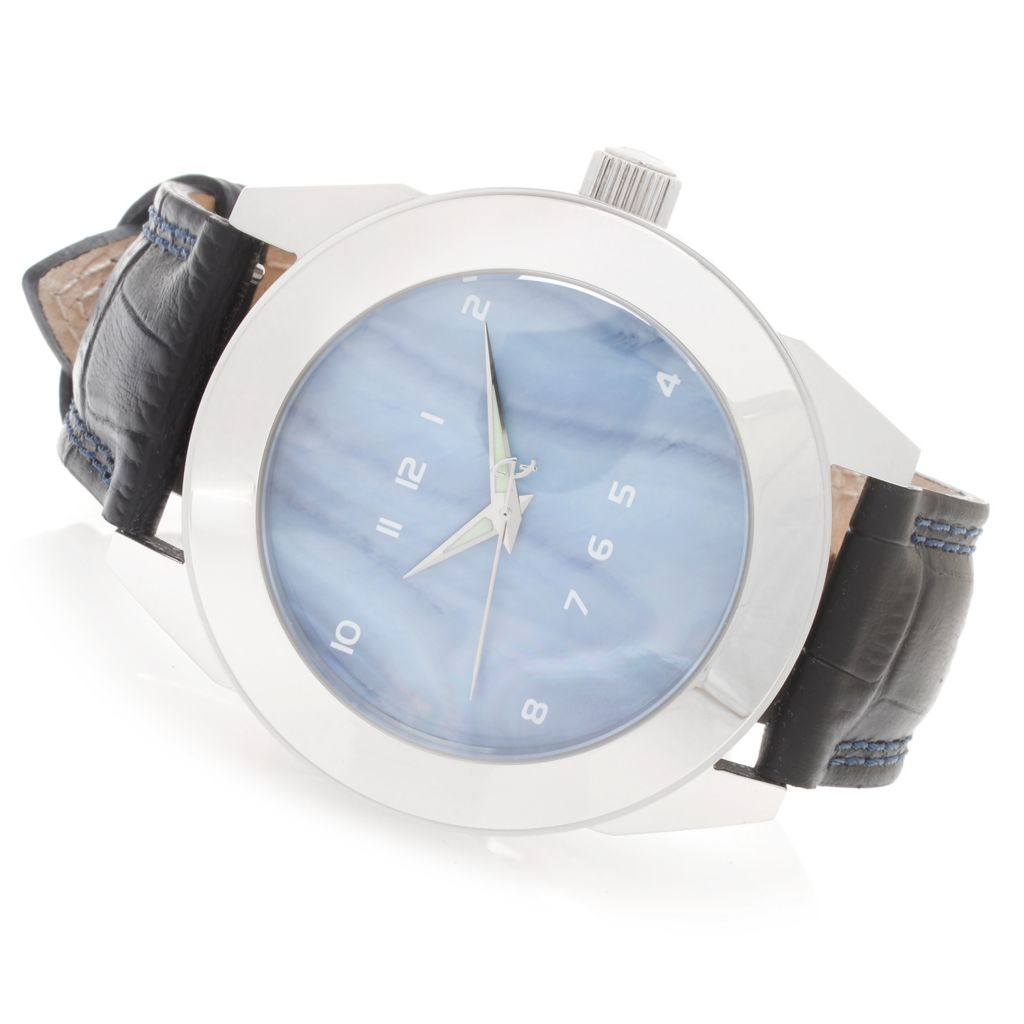 626-965 - Android 48mm Horizon Quartz Mother-of-Pearl Dial Stainless Steel Leather Strap Watch