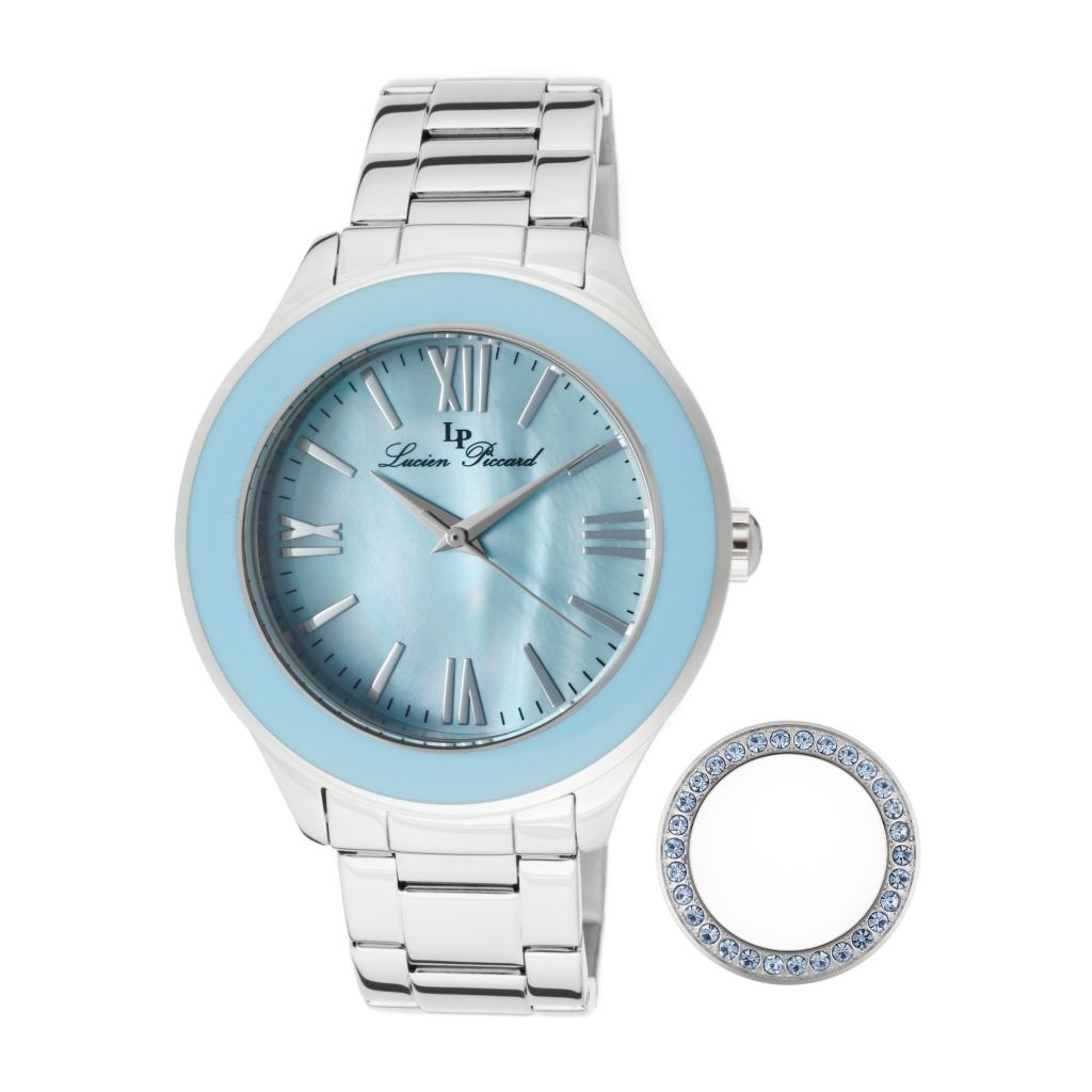 626-983 - Lucien Piccard Women's Gran Paradiso Quartz Interchangeable Bezel Bracelet Watch