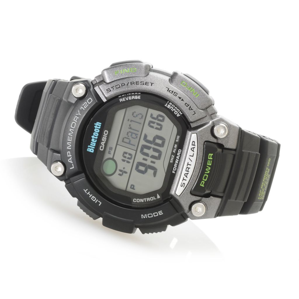 627-011 - Casio 49mm Sports Gear Digital Bluetooth® Enabled Rubber Strap Watch
