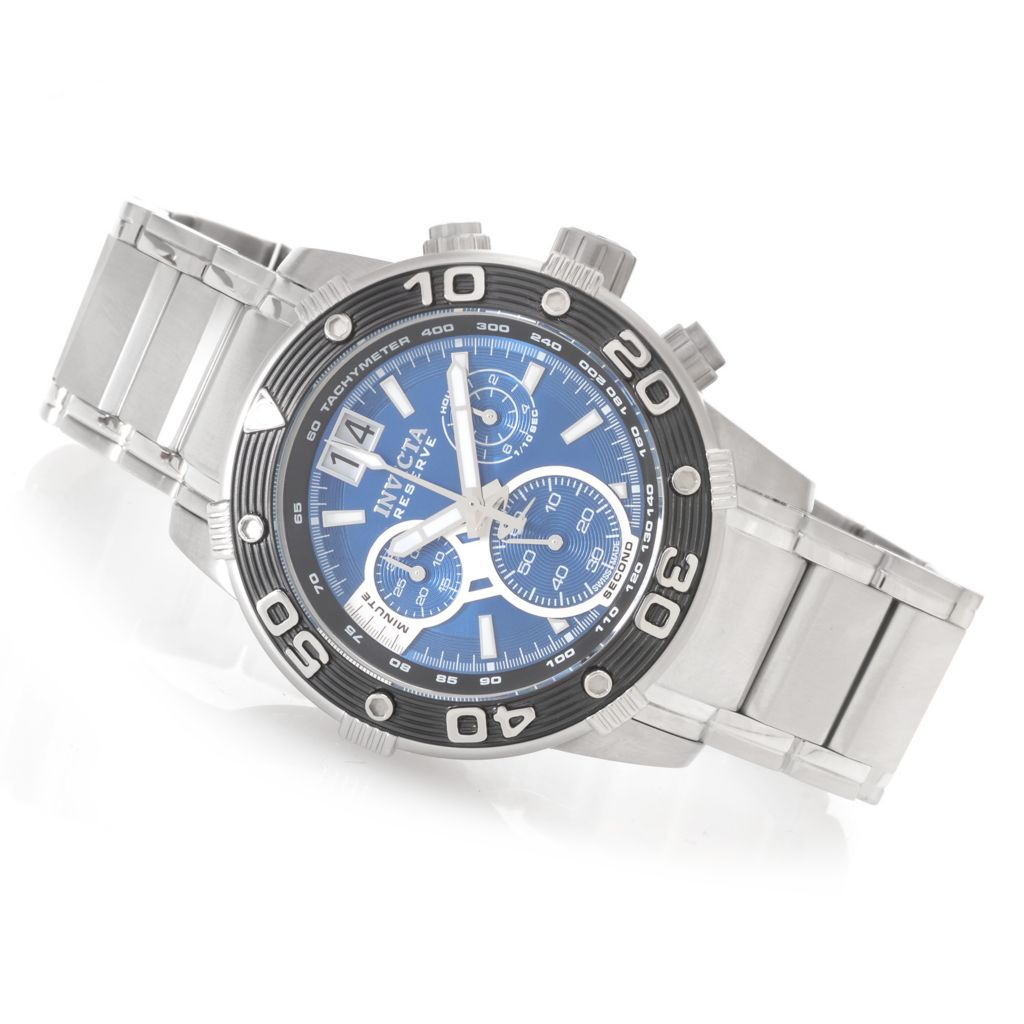 627-024 - Invicta Reserve 47mm Ocean Speedway Swiss Stainless Steel Bracelet Watch w/ Three-Slot Dive Case