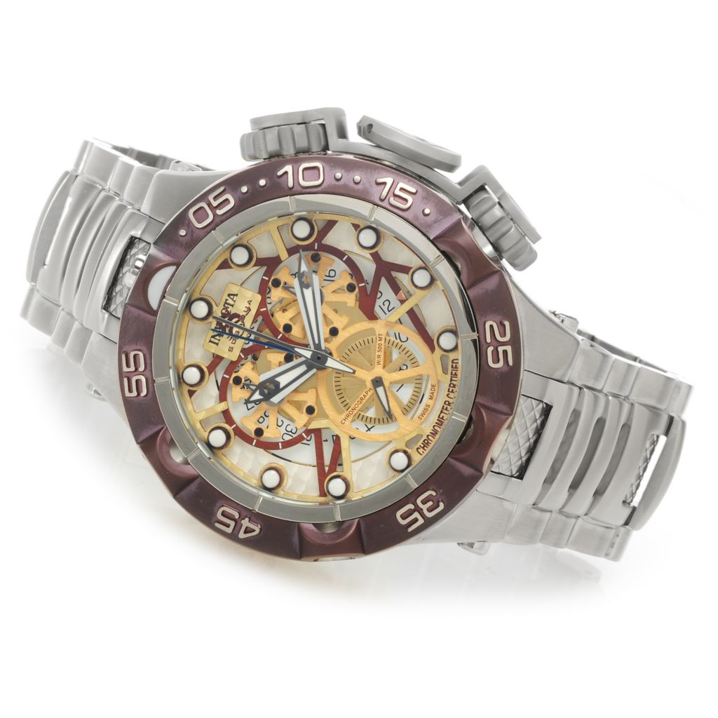 627-028 - Invicta 50mm Subaqua Noma V Swiss Made COSC Quartz Chronograph Bracelet Watch