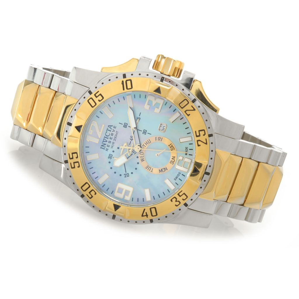 627-029 - Invicta Reserve 50mm Excursion Swiss Chronograph Bracelet Watch w/ One-Slot Dive Case
