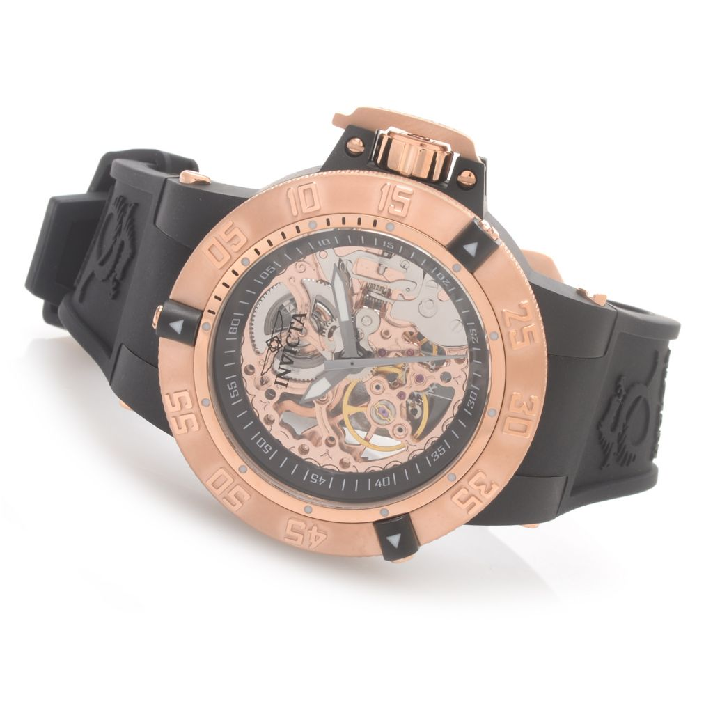 627-038 - Invicta 42mm Subaqua Noma III Anatomic Mechanical Silicone Strap Watch