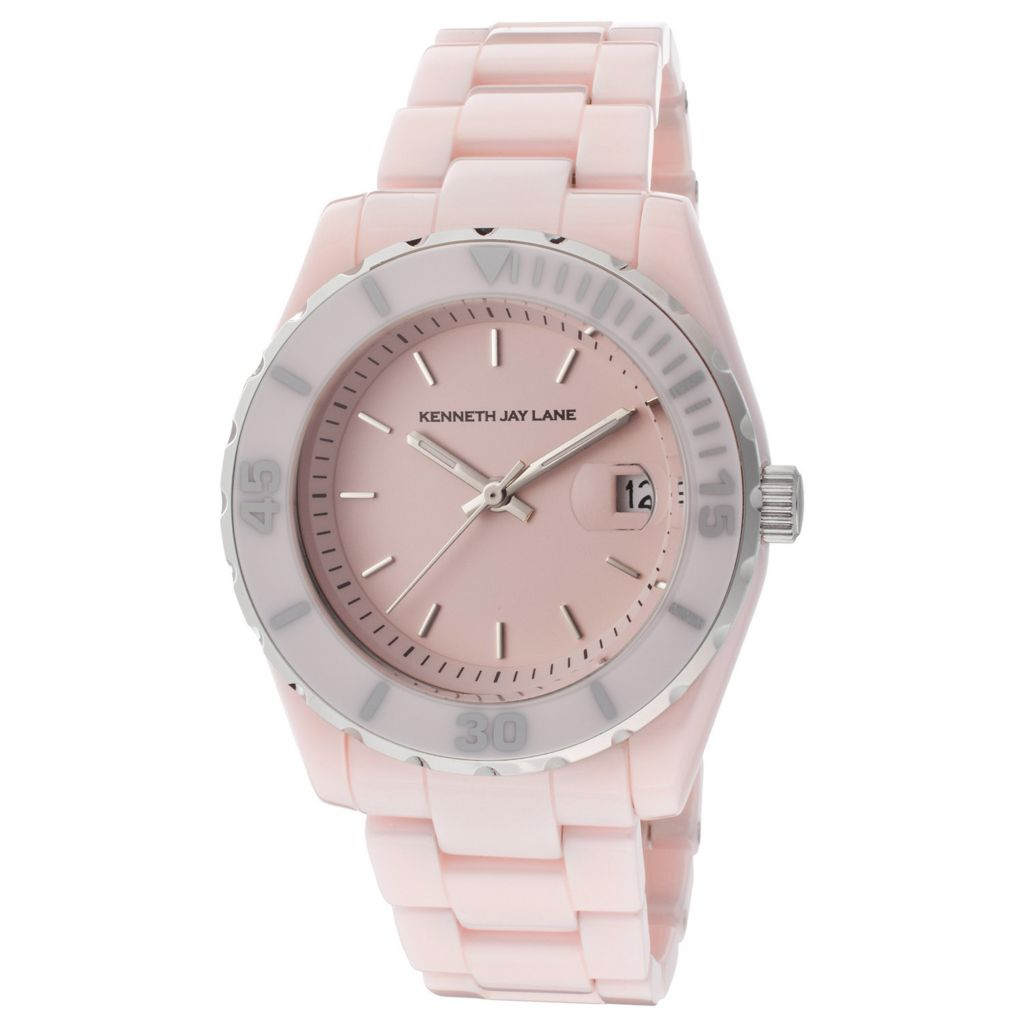 627-066 - Kenneth Jay Lane Women's 3000 Series Quartz Ceramic Bracelet Watch