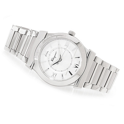 627-084 - Ferragamo 38mm Vega Swiss Made Quartz Stainless Steel Bracelet Watch