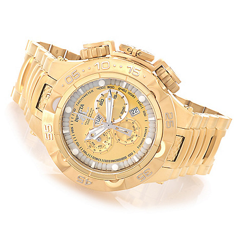 627-098 - Invicta 50mm Subaqua Noma V Swiss Chronograph Stainless Steel Bracelet Watch