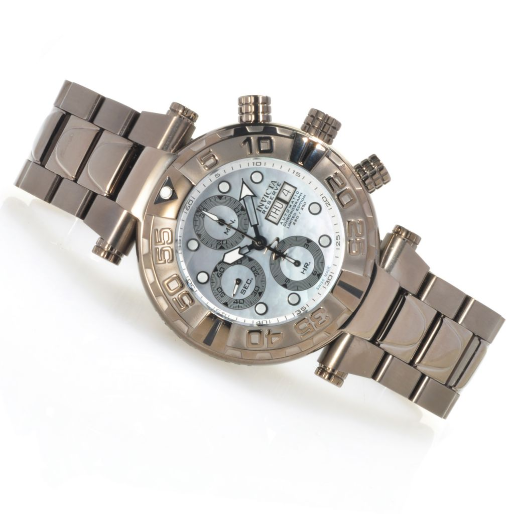 627-102 - Invicta Reserve Subaqua Noma I 47mm Swiss Valjoux 7750 Bracelet Watch w/ Three-Slot Dive Case