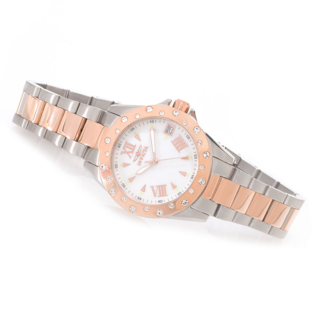627-113 - Invicta Women's Angel Quartz Crystal Accented Stainless Steel Bracelet Watch