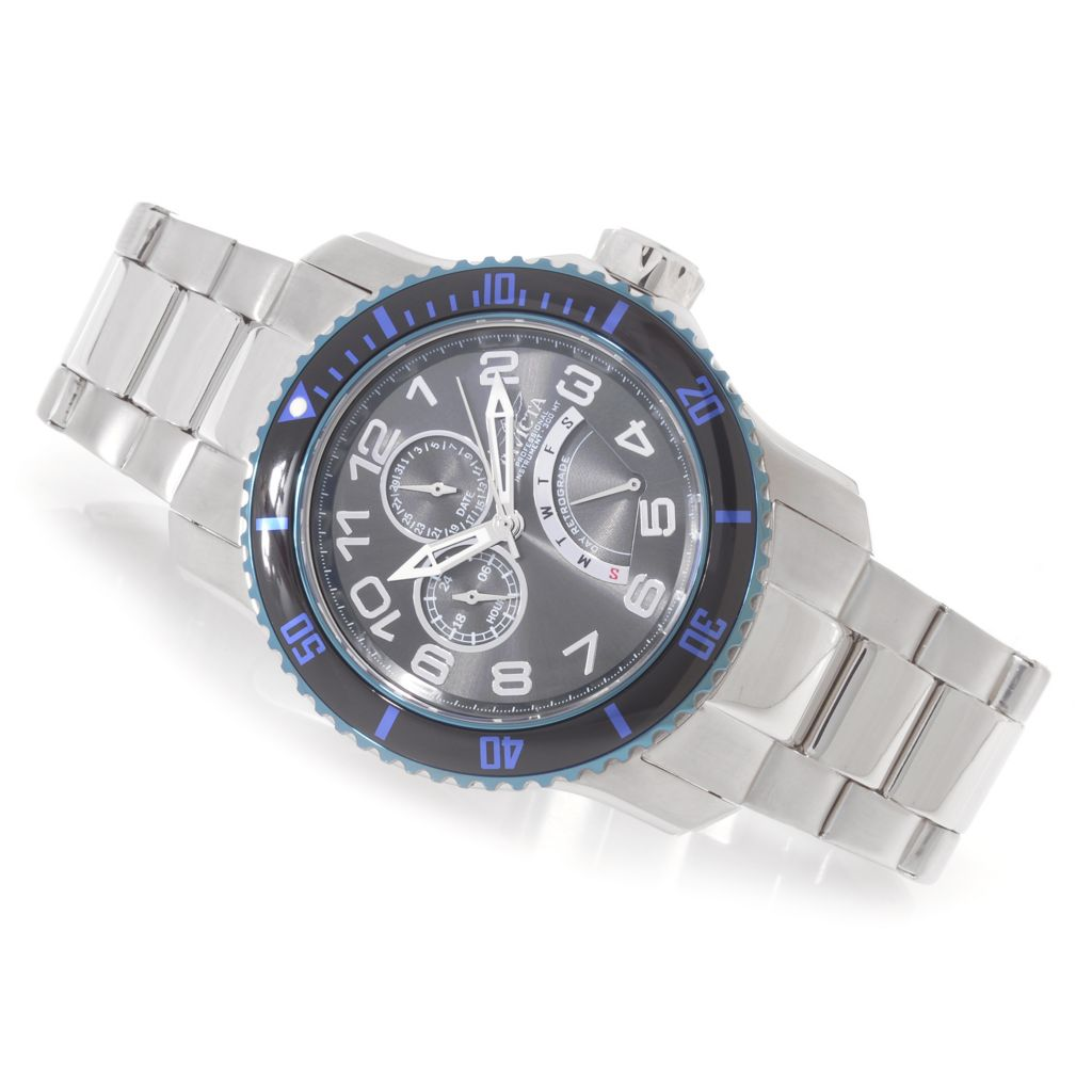 627-115 - Invicta 49mm Pro Diver Quartz Multi Function Stainless Steel Bracelet Watch