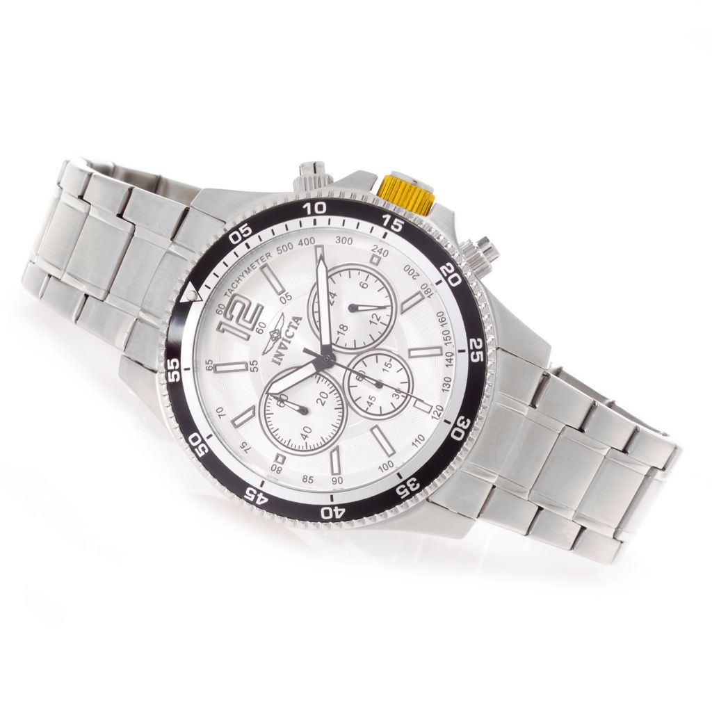 627-117 - Invicta 45mm Specialty Quartz Chronograph Stainless Steel Bracelet Watch