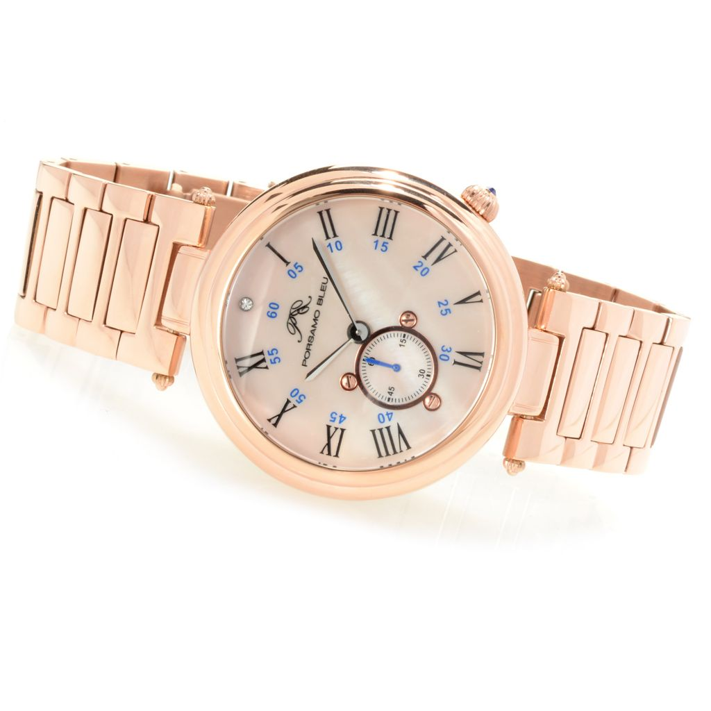 627-122 - Porsamo Bleu Women's Celeste Stainless Steel Bracelet Watch Made w/ Swarovski® Elements