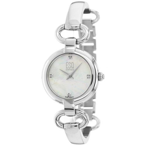 627-152 - ESQ Movado Women's Kali Swiss Quartz Diamond Accented Stainless Steel Bangle Bracelet Watch
